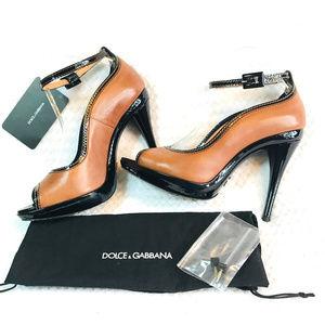 c3d35151561 Dolce   Gabbana peep toe platform pamps